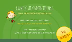 Neu Kruemelkiste Malmsheim - Renningen