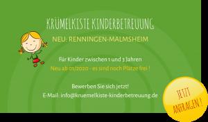 Neueröffnung Krümelkiste Renningen-Malmsheim