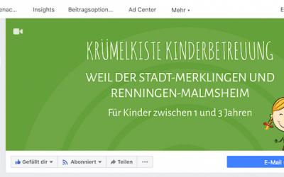 KRÜMELKISTE Kinderbetreuung jetzt auch auf Facebook