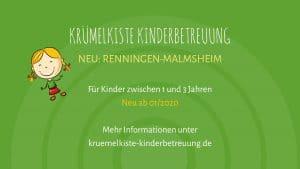 Neueröffnung Kinderbetreuung Renningen Malmsheim